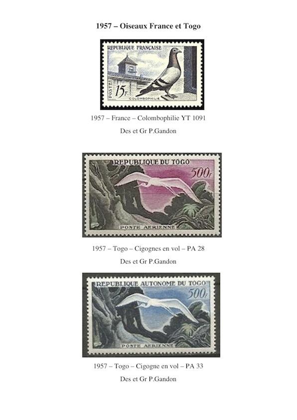 1957 oiseaux france et togo