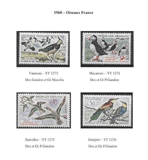 1960 oiseaux france