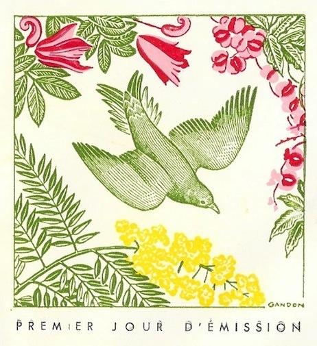 1961 gabon oiseau melichneutes