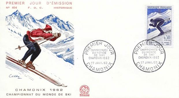 1962 descente ski
