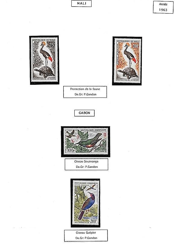 1963 mali gabon oiseaux