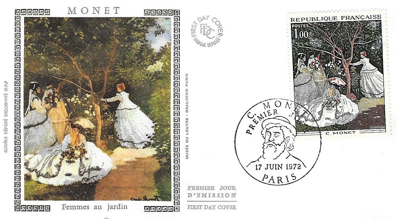 1972 monet femme au jardin