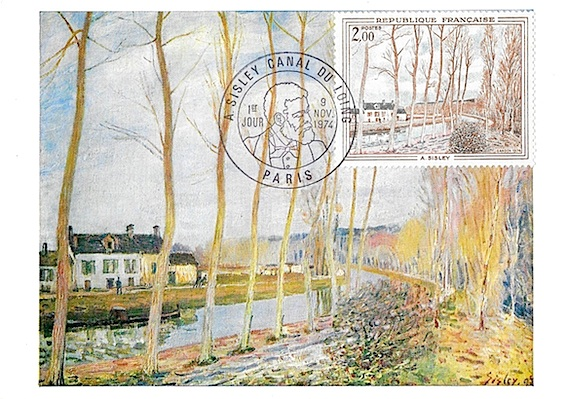 1974 sisley canal du loing