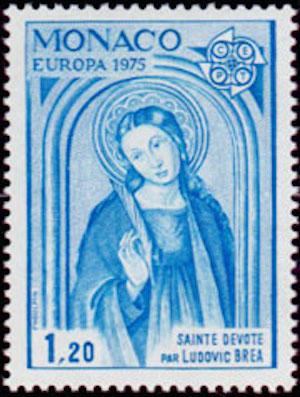 1975 sainte devote timbre monaco
