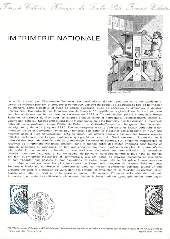 1978 imprimerie nationnale