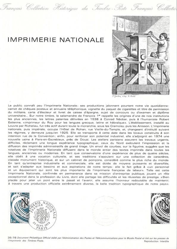 1978 imprimerie nationnale