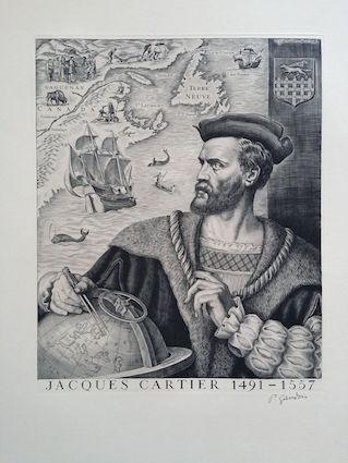Jacques cartier gravure gandon 1