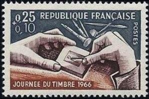 Journe e du timbre 1966 gravure de bequet