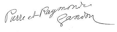 Signature pierre et raymonde gandon