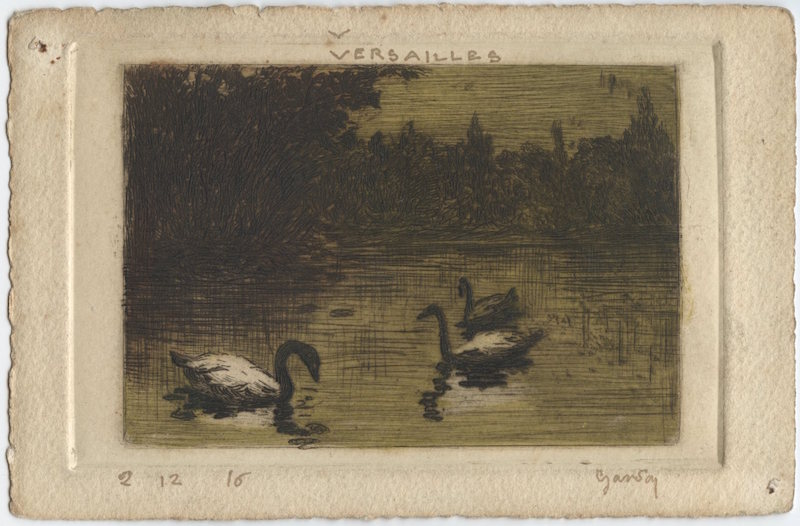 Versailles 2 12 16 comite des e tudiants ame ricains de l e cole des beaux arts paris wwi post card art un numbered signed gandon wittig collection item 56 obverse scan 01